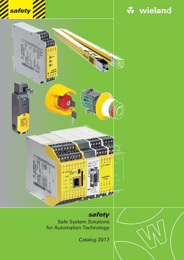 Wieland Safe System Solutions for Automation Technology 2017 Catalogue Cover