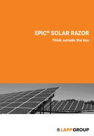 EPIC SOLAR RAZOR - Think outside the box Catalogue Cover
