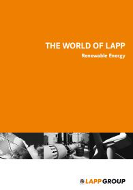 The World of Lapp Renewable Energy Catalogue Cover