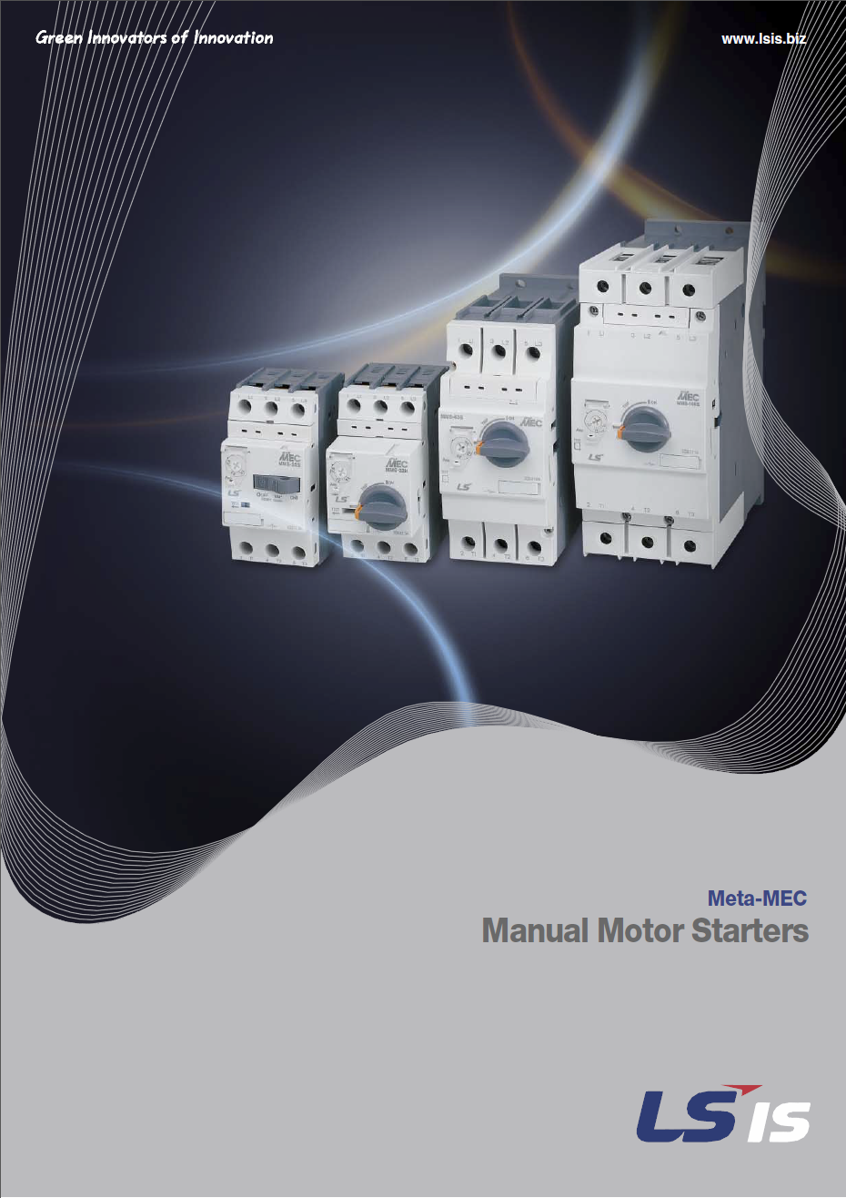 Manual Motor Starters Catalogue Cover