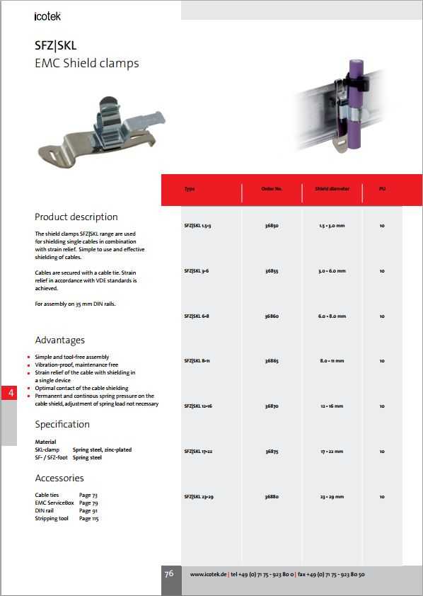 icotek-pg4-sfz-skl-emc-shield-clamps Catalogue Cover
