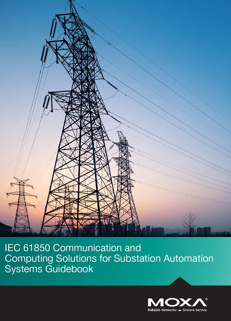 MOXA 2018 Power Substation Guidebook Catalogue Cover