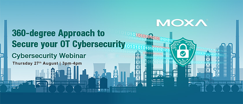 How To Deal With Cybersecurity Below DMZ Webinar With MOXA Banner