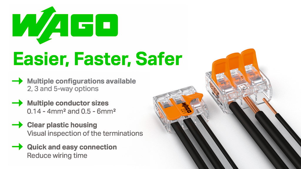 WAGO 221 Quick Connectors - The smarter choice Terminal Block Banner