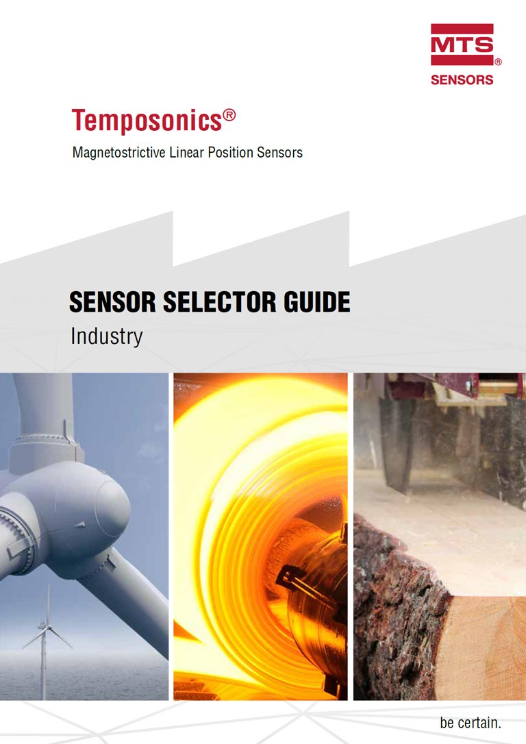 MTS Temposonics Sensor Selector Guide Catalogue Cover