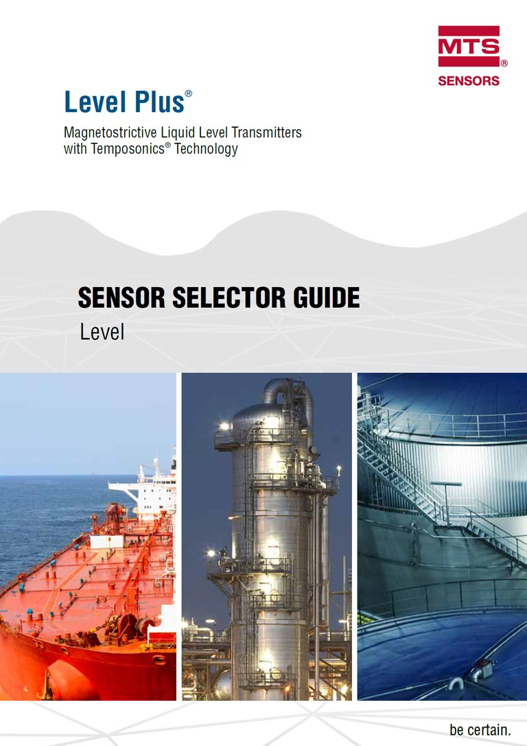 MTS Sensor Selector Guide Level Plus Catalogue Cover