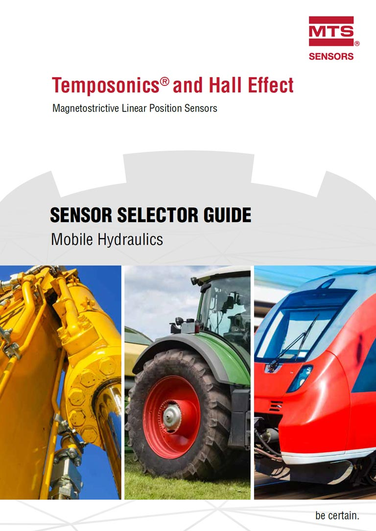 MTS Temposonics Sensor Selector Guide Mobile Hydraulics Catalogue Cover