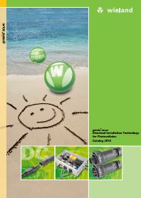 Electrical Installation Technology for Photovoltaics 2013 Catalogue Cover