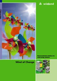 Electro-technical solutions for wind energy systems Catalogue Cover
