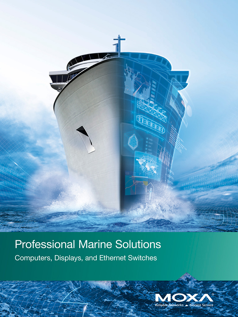 MOXA 2018 Marine Solutions Brochure Catalogue Cover